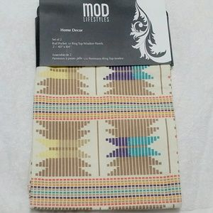 Mod Lifestyle Southwestern Printed Curtains